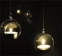 Borosilicate verre cristal en verre suspendu bouge de chandelier Home Mariage Partie de mariage dîner décor herbe porte-bougie 172 v2
