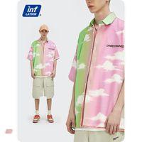 Homme Polos 2021 Logo Individualité Bai Yunman Version de l'impression numérique Chemises en vrac avec manches courtes