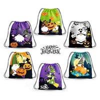6шт / набор Хэллоуин декоративные конфеты дети сумка рюкзак школа штукатурой ланч обед плавательные сумки для мальчиков рюкзаки мультфильмы детские животные школьная сумка G60OHMA