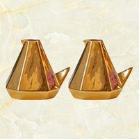 2 stücke Keramik Vogelform Blume Vasen vergoldet Behälter Europäischen Stil Blumentopf Dekoration (Goldene)
