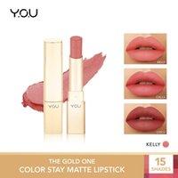 Lip de labelo você o ouro uma cor estadia matte batom duradouro não-pegajoso tonalidade impermeável glaze maquiagem cosméticos beleza