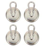 Haken Schienen 1 Satz 4 STÜCKE Heavy Duty Magnetic Swivel Carabiner Snap (Silber)