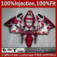 OEM-Spritzgussform für Kawasaki Red Silvery BLK Ninja ZZR600 600cc-Körper 100% Fit 600 CC 05-08 Körperarbeit 38HC.130 ZZR 600 05 06 07 08 ZZR-600 2005 2006 2007 2008 volle Verkleidung
