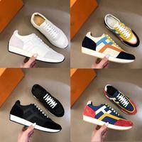 2021 جودة عالية الرجال الرياضة أحذية مصمم الجلود خياطة لوحة اليدوية عارضة الرياضة shoess أزياء جديدة خياطة اللون size38 ~ 45
