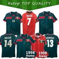 Rétro Maroc Soccer Jerseys Mens 1999 1998 1997 Home Away Bassir M. Hadji Abrami NeqRouz Ouakili Sleeve Sleeve Sleeve Uniformes Équipe nationale