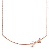 Necklaces 100% 925 Sterling Silver Rose Gold Me Link Snake Chain Brilliant Bow Sliding Necklace Fit Charm Trendy Diy Jewelry