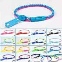Fashion Wrist Band Zipper Bracelet Cell Phone Straps Rainbow Pendant Fidget Decompression Wristband Autism Anxiety Stress Relever Kids Adult Decoration