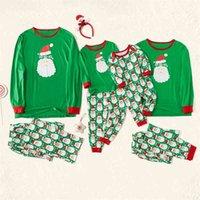 2020 트렌드 고품질 새로운 패션 바디 레저 모자이크 산타 잠옷 세트 부모 - 자식 8892
