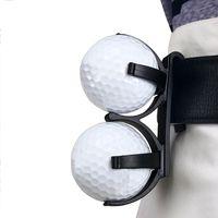 Держатель для мяча для гольфа Rotatuble пластиковая талия клип Организатор Golfer Golf Plocking Sporting Training Tools Accessory для 2 шариков СПИД