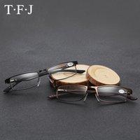 Anti-fatica di alta qualità Donne da uomo Lettura occhiali da lettura Quadrato Lega Lega Lega EyeGlasses Hyperopia Presbiopia Lentes De Lectura Occhiali da sole