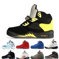 Yeni Ucuz Jumpman 5 S SP Michigan 5 Sarı Erkek Basketbol Ayakkabı En Kaliteli Sneakers Sneaker Eğitmenler Ayakkabı