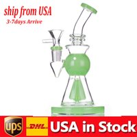 cheapest Glass Beaker Bong pipe Dab Rig Mushroom Perc Percolator 10.5 inch Tall thick base Water Pipes Bongs with smoking bowl in stock USA