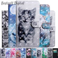 Fashion 3D Cat Dog Flower Painted Flip Leather Case For Xiaomi Redmi Note 9 9A 9S 8 8T 7 7A 6 5 5A 4X 4 Pro Card Holder Stand Book Cover