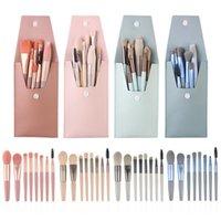 Makeup Brushes 8 Pcs Mini Travel Portable Set Cosmetic Bag Eye Shadow Powder Eyelash Lip Concealer Blush Make Up Brush Kit