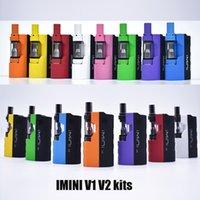 Autêntico Upgrade IMINI V1 V2 MOD KIT 650MAH PRETEAT Caixa da bateria Tensão variável com 0.5ml 1.0ml Caneta de Cartucho Vape para Óleo Grosso 100% Original