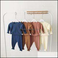 Clothing Baby, & Maternityclothing Sets Melario Kids Pajamas Children Sleepwear Long Sleeve Casual Solid Set Baby Boys Girls Clothes Cotton