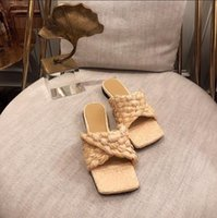 2021 Designer di lusso Sandalo in pelle Summe Summe Rwomen Sandali signore Fashion Flat Flat Slipper Slipper Scarpe donna con box Dimensione 35-41