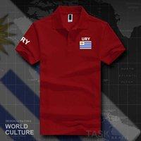 أوروغواي أوروغواي قمصان بولو الرجال قصيرة الأكمام العلامات التجارية بيضاء المطبوعة ل فرق القطن البلد الأمة العلم جديد الأزياء Ury H0913