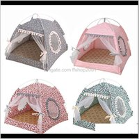 Kennels Pens Supplies Home & Gardensummer With Cushion Cat Sleeping Detachable Cleaning Pet House Medium Small Dog Bed Portable Tent Kennel