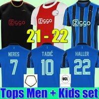 AJAX amsterdam soccer jerseys 2021 2022 KUDUS ANTONY BLIND PROMES TADIC NERES CRUYFF aJAx jersey 21 22 men + kids kit football shirt uniforms away blue third black