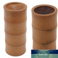Botellas de almacenamiento de bambú Cocina Recipiente de té Tareas Jar Caja Organizador Especias Caps redondas Caja de sello Bote para productos a granel