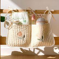 Storage Bags Baby Crib Organizer Bron Bedside Diaper Pockets Bed Holder Hanging For Infant Bedding Rails Tasche