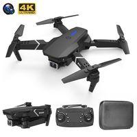 E525 Pro RC 무인 항공기가 장애물 4K HD 듀얼 카메라 Hight 홀드 모드 원하는 키 반환 Foldable Quadcopter WiFi LED 가벼운 장난감 Dron