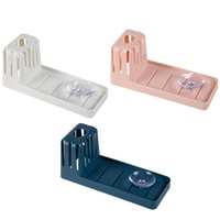 Sink Suction Cup Storage Rack Cleaning Brush Draining Kitchen Non Perforated Sponge Spoon Soap & Organization