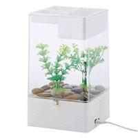 Hongyi Lazy мини акриловый стол прозрачный аквариум творческий самоочищающий экологический аквариум