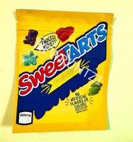 Sweetarts Yeni Mylar Çanta Özel Baskılı 600mg Yaşam Koruyucular Sweetartes Gummies Şeker Koku Geçirmez Fermuar Stokta Yerler