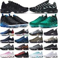 vapormax plus tn vapors vapor max tn plus TN artı koşu ayakkabıları erkek bayan açık eğitmenler Suman Üçlü Siyah tns erkek kadın spor ayakkabı büyük boy 36-47