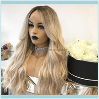 Lace Productslace Ombre Ash Blonde 13X4 13X6 Front Human Hair Wigs Remy Brazilian 150 180 200 Pre-Plucked Wigs1 Drop Delivery 2021 Aa4Nx