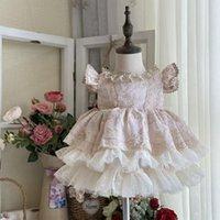 Vestidos de niña Cekcya española bebé vestido real niñas lolita princesa vestidos niños fiesta fiesta bola vestido niños españa boutique rastes