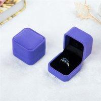 Mode Samt Schmuckkästen Hüllen für nur Ringe Ohrstecker 12 Farbe Schmuck Geschenkverpackung Display Größe 5 cm * 4,5 cm * 4 cm 121 U2
