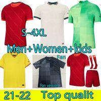 S-4XL 21 22 Hombres Mujeres Kit Kits Yout + Socks Soccer Jerseys Home Weew Away 3rd M.Salah Virgil Firmino MANE Henderson Shaqiri A.Becker Portero 2021 2022 Camisa de Fútbol