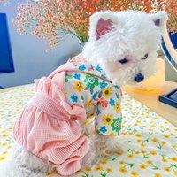 الكلب الملابس petcircle الملابس الزهور فانوس وزرة ل جرو صغير القط القط كل موسم لطيف زي القماش معطف سترة