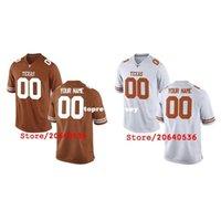 Texas Cheap Longhorns Personalizzato College Jersey Mens Donne Gioventù Bambini Personalizzati Qualsiasi numero di qualsiasi nome cucito arancione arancione maglie di calcio bianco