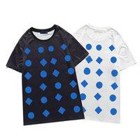 Homem camiseta camisa menino geométrico padrão top mulheres casual manga curta oversize tops trendy streetwear roupas moda verão casualtee