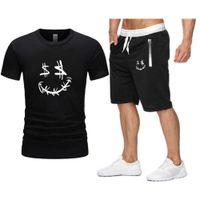 White Money Face Printing Oversized T-shirt 2021 Streetwear Men Hip-Hop Brand Sets Men's Clothing Summer Beach Shorts Tracksuit