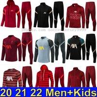 2021 2022 Мужской футбольный трексуит Выжитие де футбольный костюм 21 22 Мужчины Дети Maillot Полная застежка-молния Куртки Спортивная одежда