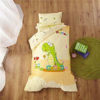 Baumwolle 3 teile / satz Kindergarten Quilt Cartoon Kinderzimmer Bettwäsche Set Baby Krippe Steppdecke Bettwäsche ohne Füllung weich