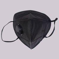 Face Preto K 9 FFP2 Fábrica 95% Filtro Máscaras Cinza Activado Carbono Respirando Válvula Respirador 5 Camada Máscara Boca Pacotes Ingleses