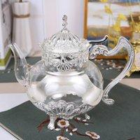 Saray Altın Cam Çaydanlık Mutfak Metal Soğuk Su Isıtıcısı Cezve Avrupa Tarzı Ev Dekorasyon Züccaciye Doğum Günü Düğün Hediyeleri