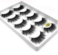2021 3D Peaches de visón Pestañas Naturales Pestañas Falsas Largas Eyelash Extension Faux Fake Eye Palestes Maquillaje Herramienta de maquillaje 5 pares / Conjunto
