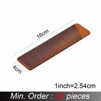 Pencil Bags 50 Pieces   Lot 116x40mm Simple Handmade Genuine Leather Pen Bag Cowhide Vintage Retro Style Accessories A-T10