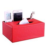 Caixas teciduais guardanao caux caixa de couro capa multifuncional titular controle remoto organizador hx5a