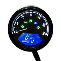 오토바이 타코미터 게이지 속도 마일리지 LED 백라이트 12V 오토바이 주행 거리계 속도계 타코미터 디스플레이 속도