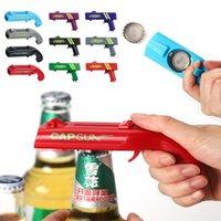 Cap Gun Beer Opener Bottle Flying Cap Launcher Shooter Party Drinking Game Toy Kitchen Gadget Bar Accessories destapador pistola