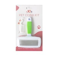 JOS Petcare Pielęgnacja pielęgnacji pędzla i zestawu grzebieniowego, pędzel psa i pędzla kota, szczotka do masażu dla zwierząt domowych, narzędzie do pielęgnacji, 2 rozmiary do wyboru