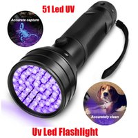 Hot UV Led Ultraviolet Flashlight Lamp 51 Leds 395nm Ultra Violet Torch Light Blacklight Detector for Dog Urine Pet Stains and Bed Bug Fluorescent Scorpion 510Led